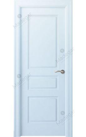 Puerta interior clásica lacada Angle, termo-acústica ld7 Breña, blanco. Madegar
