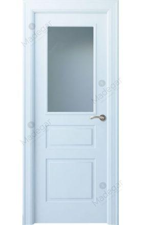 Puerta interior clásica lacada Angle, termo-acústica ld7 Breña 1VC, blanco. Madegar
