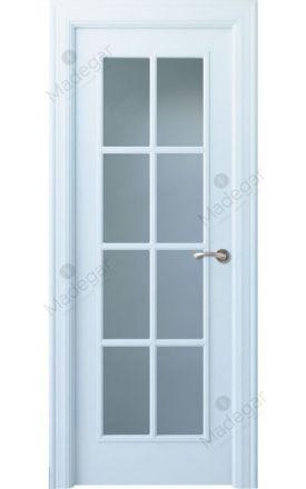 Puerta interior clásica lacada Angle, termo-acústica ld7 Oma 8VL, blanco. Madegar