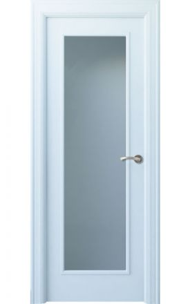 Puerta interior lacada Angle, Termo-acústica LD Oma 1VL, blanco. Madegar