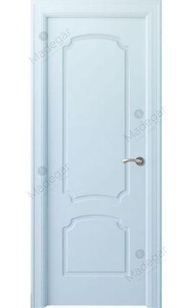 Puerta interior clásica lacada Arc, termo-acústica ld7 R-Faedo, blanco. Madegar