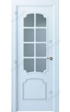 Puerta interior clásica lacada Arc, termo-acústica ld7 R-Faedo 8V, blanco. Madegar