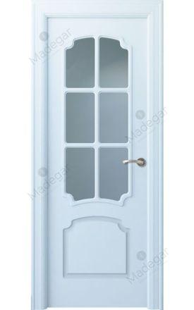 Puerta interior clásica lacada Arc, termo-acústica ld7 R-Faedo 6V, blanco. Madegar