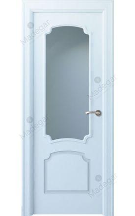 Puerta interior clásica lacada Arc, termo-acústica ld7 R-Faedo 1V, blanco. Madegar