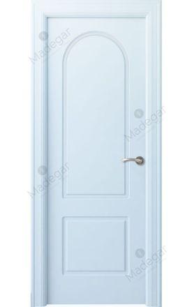 Puerta interior clásica lacada Arc, termo-acústica ld7 R-Tilos, blanco. Madegar