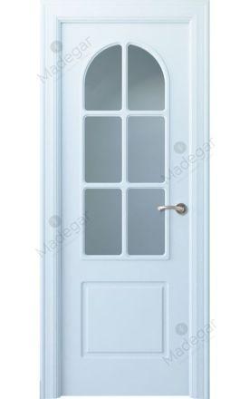 Puerta interior clásica lacada Arc, termo-acústica ld7 R-Tilos 6V, blanco. Madegar