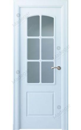 Puerta interior clásica lacada Arc, termo-acústica ld7 R-Lizana 6V, blanco. Madegar