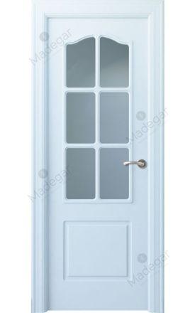 Puerta interior clásica lacada Arc, termo-acústica ld7 R-Saler 6V, blanco. Madegar