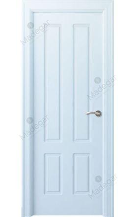 Puerta interior clásica lacada Arc, termo-acústica ld7 R-Rodeno, blanco. Madegar