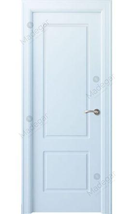 Puerta interior clásica lacada Arc, termo-acústica ld7 R-Bellver, blanco. Madegar