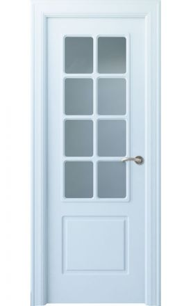 Puerta interior clásica lacada Arc, termo-acústica ld7 R-Bellver 8V, blanco. Madegar