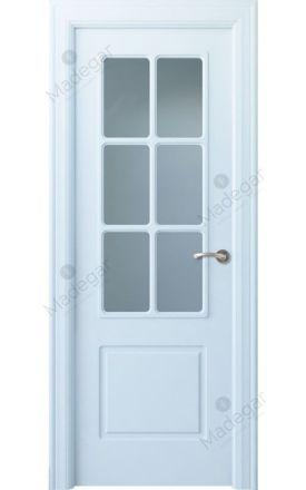 Puerta interior clásica lacada Arc, termo-acústica ld7 R-Bellver 6V, blanco. Madegar