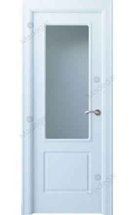 Puerta interior clásica lacada Arc, termo-acústica ld7 R-Bellver 1V, blanco. Madegar