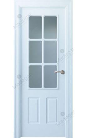 Puerta interior clásica lacada Arc, termo-acústica ld7 R-Rodeno 6V, blanco. Madegar