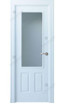 Puerta interior clásica lacada Arc, termo-acústica ld7 R-Rodeno 1V, blanco. Madegar