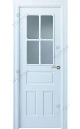 Puerta interior clásica lacada Arc, termo-acústica ld7 R-Genal 4V, blanco. Madegar