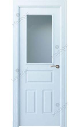 Puerta interior clásica lacada Arc, termo-acústica ld7 R-Genal 1VC, blanco. Madegar