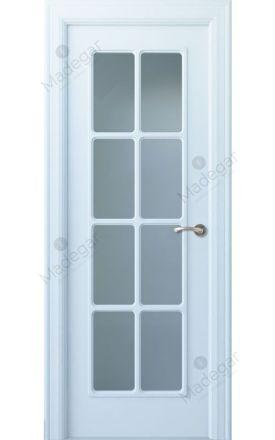 Puerta interior clásica lacada Arc, termo-acústica ld7 R-Oma 8VL, blanco. Madegar