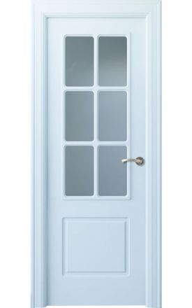 Puerta interior clásica lacada Arc, termo-acústica ld7 R-Breña 6V, blanco. Madegar