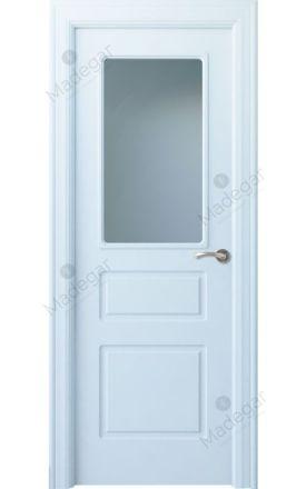 Puerta interior clásica lacada Arc, termo-acústica ld7 R-Breña 1VC, blanco. Madegar