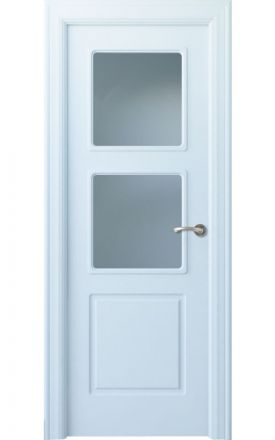 Puerta interior clásica lacada Arc, termo-acústica ld7 R-Urbión 2V, blanco. Madegar