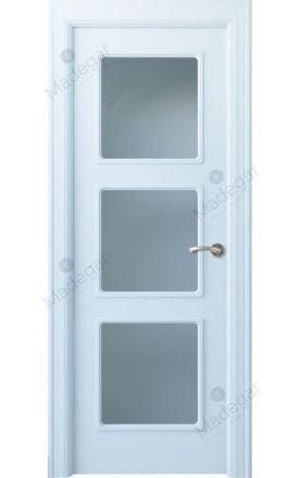 Puerta interior clásica lacada Arc, termo-acústica ld7 R-Urbión 3V, blanco. Madegar