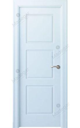 Puerta interior clásica lacada Arc, termo-acústica ld7 R-Urbión, blanco. Madegar