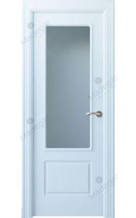 Puerta interior clásica lacada Arc, termo-acústica ld7 R-Eume 1V, blanco. Madegar