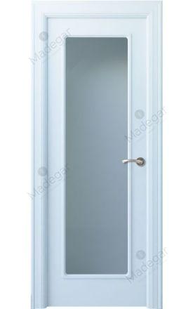 Puerta interior clásica lacada Arc, termo-acústica ld7 R-Eume 1VL, blanco. Madegar