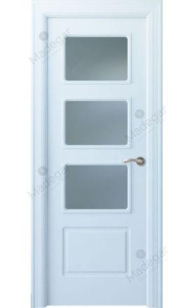 Puerta interior clásica lacada Arc, termo-acústica ld7 R-Eume 3V, blanco. Madegar