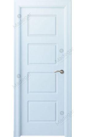 Puerta interior clásica lacada Arc, termo-acústica ld7 R-Eume, blanco. Madegar