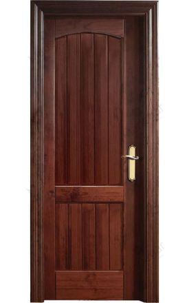 Puerta interior clásica madera Castellana, maciza Arco Duelas, pino apache