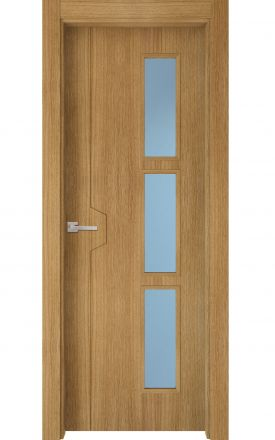 Puerta interior actual madera Nature, maciza ld3 Catasós 3VD, roble V. Madegar