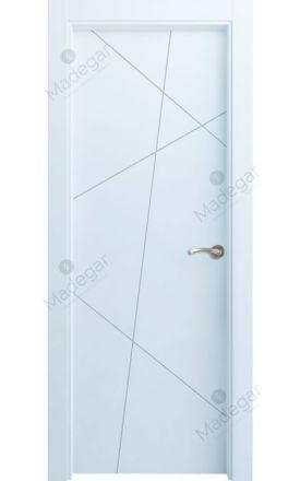 Puerta interior actual lacada Innova, termo-acústica ld7 Riaño, blanco. Madegar