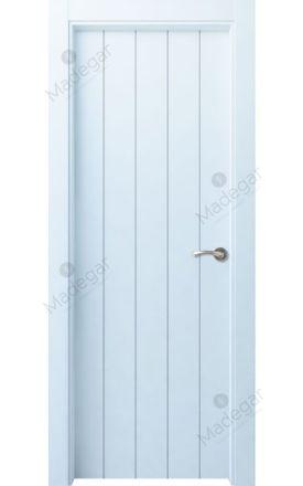 Puerta interior actual lacada Innova, termo-acústica ld7 Kobetas, blanco. Madegar