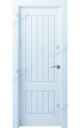 Puerta interior lacada Innova, Termo-acústica LD Oza 5, blanco. Madegar