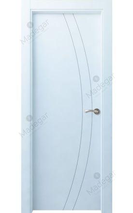 Puerta interior actual lacada Innova, termo-acústica ld7 Ordesa 2, blanco. Madegar