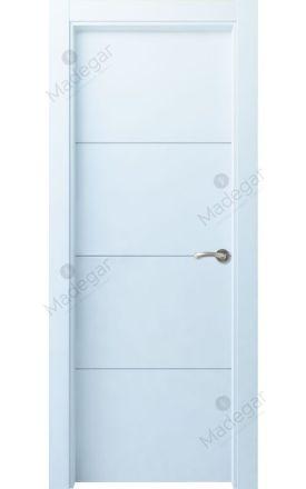 Puerta interior actual lacada Innova, termo-acústica ld7 Lin R3, blanco. Madegar