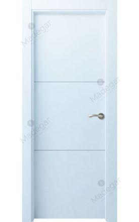 Puerta interior actual lacada Innova, termo-acústica ld7 Lin R2, blanco. Madegar
