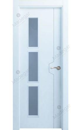 Puerta interior actual lacada Innova, termo-acústica ld7 Catasós 3VD, blanco. Madegar