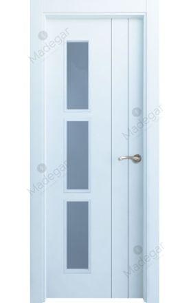 Puerta interior actual lacada Innova, termo-acústica ld7 Tejera 1-1 3VD, blanco. Madegar