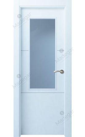 Puerta interior lacada Innova, Termo-acústica LD Lin R2 1V, blanco. Madegar
