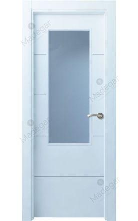 Puerta interior actual lacada Innova, termo-acústica ld7 Lin R4 1V, blanco. Madegar