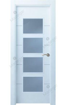 Puerta interior lacada Innova, Termo-acústica LD Lin R4 4VC, blanco. Madegar