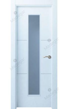 Puerta interior actual lacada Innova, termo-acústica ld7 Lin R2 1VLCP, blanco. Madegar