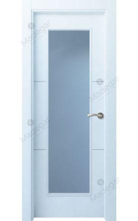 Puerta interior actual lacada Innova, termo-acústica ld7 Lin R2 1VL, blanco. Madegar