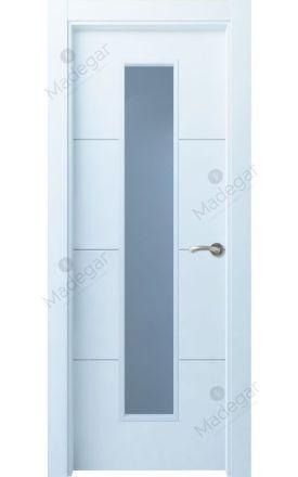 Puerta interior actual lacada Innova, termo-acústica ld7 Lin R3 1VLCP, blanco. Madegar