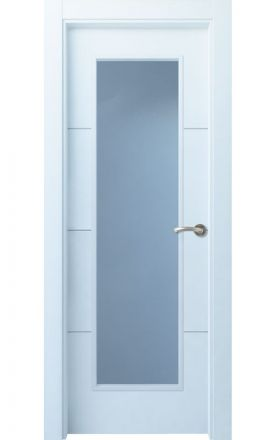 Puerta interior actual lacada Innova, termo-acústica ld7 Lin R3 1VL, blanco. Madegar