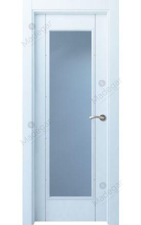 Puerta interior actual lacada Innova, termo-acústica ld7 Ambroz H4 1VL, blanco. Madegar