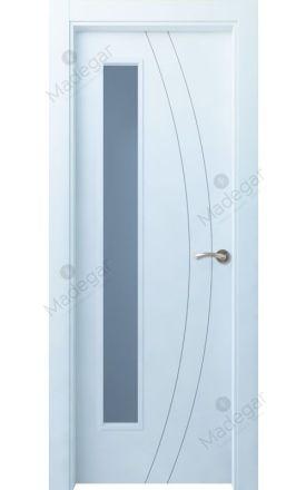 Puerta interior actual lacada Innova, termo-acústica ld7 Ordesa 2 1VLD, blanco. Madegar